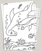 Dinosaurier   Ausmalbilder.– Kostenlose Malvorlagen für Kinder
