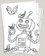 30 roboter bilder zum ausmalen - besten bilder von