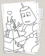 roboter - ausmalbilder - kostenlose malvorlagen für